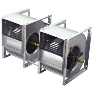 "BD2A22-22K | Lau Industries 22"" x 22"" Twin Bare Shaft Blower"